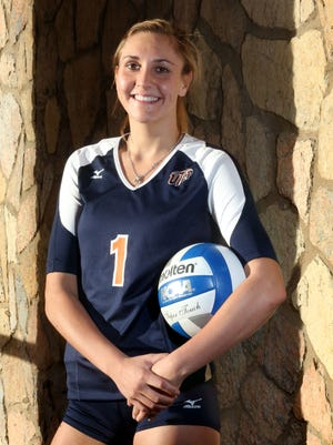 UTEP sophomore outside hitter Coline Coessens hails from Brussels, Belgium.