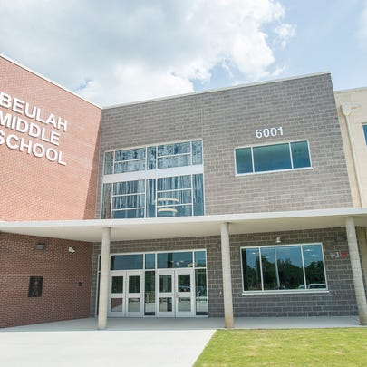 The exterior of the new Beulah Middle School in Pensacola