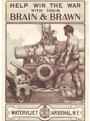 "Edward Buyck's 1918 ""Brain & Brawn"" poster, published"