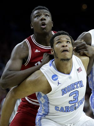 IU's Thomas Bryant and North Carolina's Kennedy Meeks will be among the key figures in Wednesday's rematch of last year's Sweet 16.