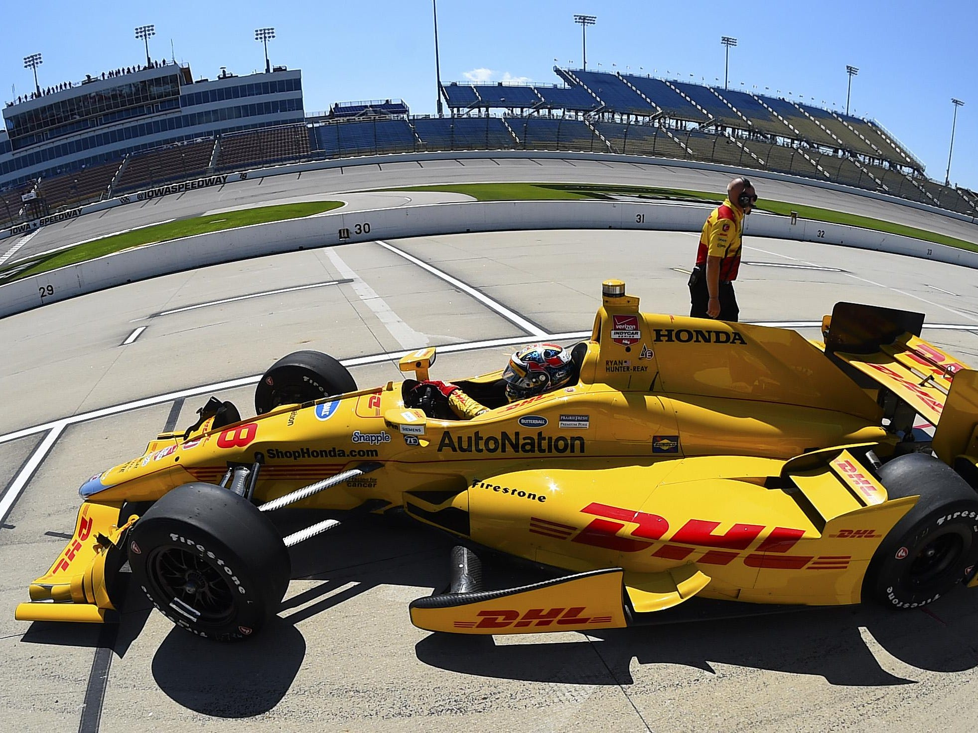 Ryan Hunter-Reay had the fastest Honda in practice on Friday at 178.379 mph, but that was 12th-fastest overall. Only one Chevrolet ran slower: rookie Stefano Coletti (177.916).