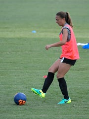 Karlie Paschall plays on the U20 Women's US National