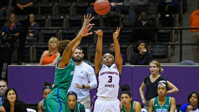 Keisha Lee and the NSU women will try to rebound from a loss at Nicholls State.