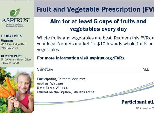 The prescriptions to eat more fruits and vegetables