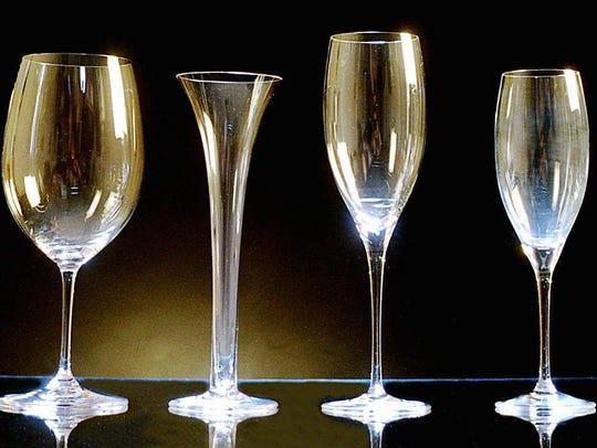 Riedel glassware.