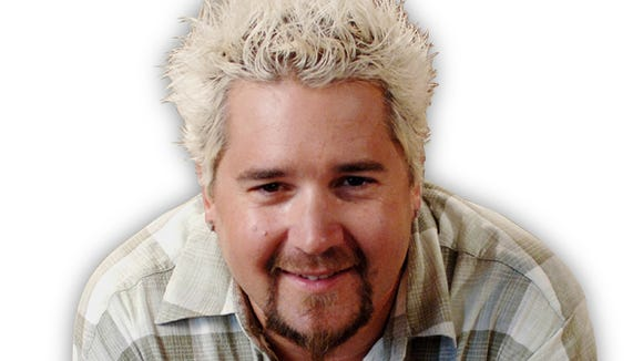 "Guy Fieri, host of Food Network's ""Diner, Drive-ins and Dives."""