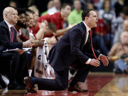 Indiana coach Archie Miller calls instructions during