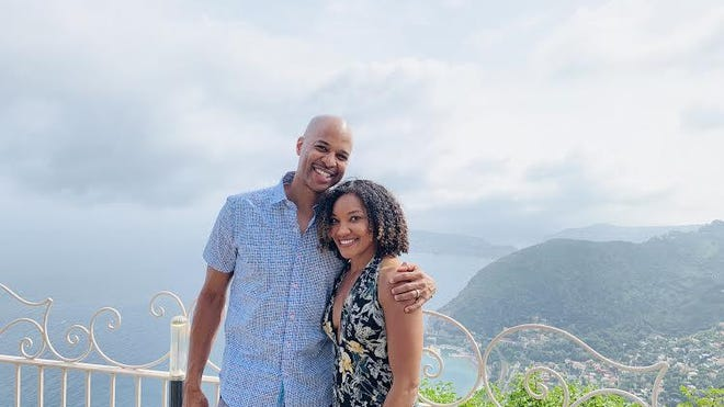 Canton native Christopher Stokes and his family are making plans to move to South Africa this year. Stokes and his wife, Lauren, are big advocates of international travel. They've been to as many as 12 countries, including France, seen here.