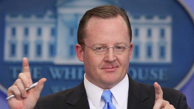 In this Jan. 28, 2011 photo, then-White House Press Secretary Robert Gibbs answers questions during his daily news briefing at the White House in Washington. McDonald's on Tuesday announced it has named Gibbs its global chief communications officer, as the fast-food giant looks to improve its image.