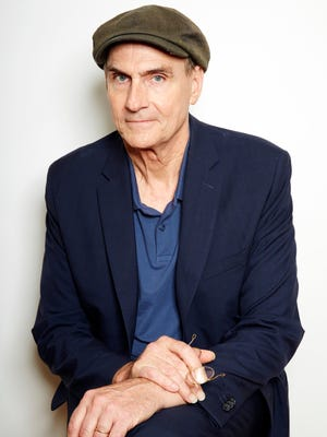 Grammy Award winning singer-songwriter James Taylor poses for a portrait in New York on Wednesday, May 13, 2015. Taylor is releasing a new album 'Before This World.'