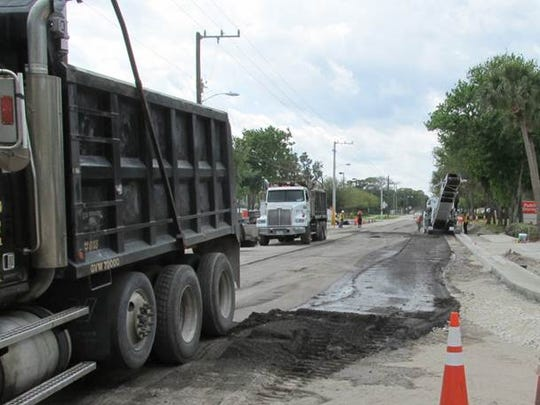 The cost of resurfacing is about $110,000 per mile