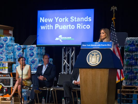 Jennifer Lopez and Andrew Cuomo