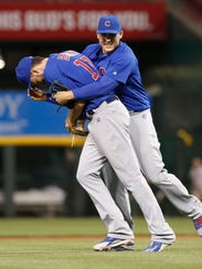 Rizzo and Bryant goofing after a June 2016 victory