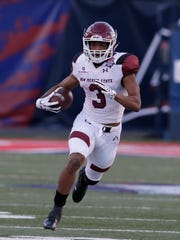 New Mexico State running back Larry Rose III (3) in