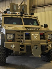 Armored police truck