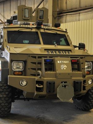 The Marathon County Sheriff's Department was justified in bringing an armored vehicle to seize property from a couple in early October in Stettin.