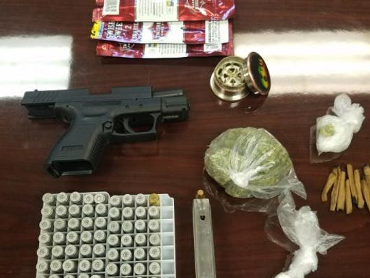 Scott Police found more than $1,000 in illegal drugs while helping to serve an eviction notice.