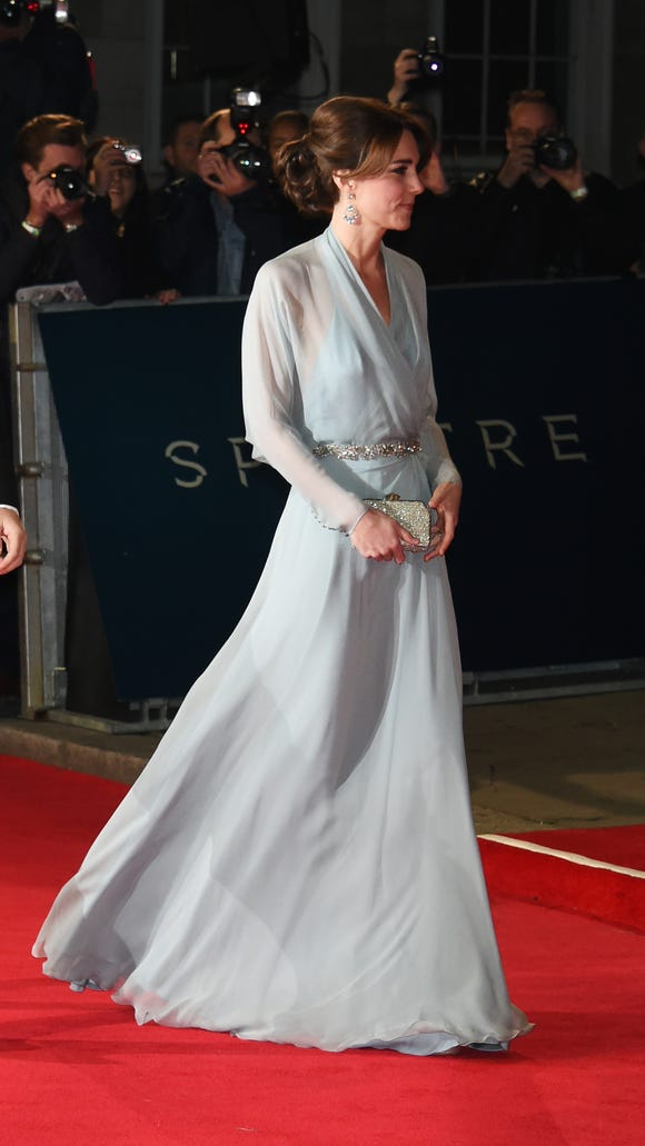 Duchess Kate on red carpet at 'Spectre' premiere in