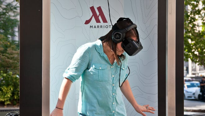 Marriott Hotels has launched a virtual travel program in which people can be transported to London and Hawaii via a teleporter.
