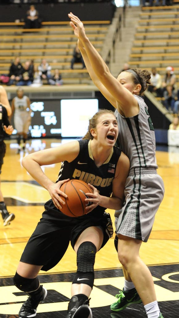The sophomore on the Purdue women's basketball team has been out since Jan. 8 due to a high ankle sprain