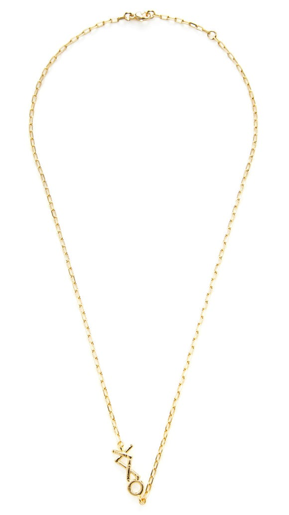 The XXO Bar necklace, $125.