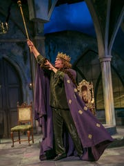"Brent Harris in the Shakepeare Theatre of New Jersey production of ""Exit the King."""