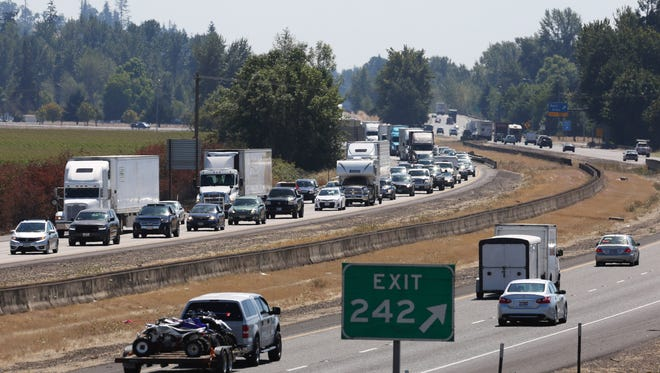 Traffic on I-5.