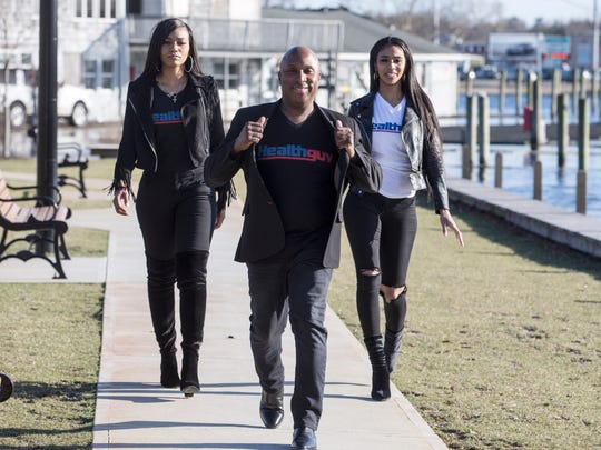Founders of Healthguv, a social networking site for people with health problems to come together, have opened an office in downtown Toms River. Left to right are Camille Valmon, Joseph Creadle, and Gabrielle Valmon.
