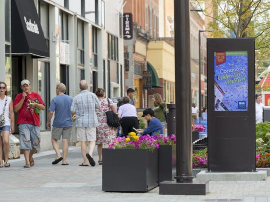 The Ithaca Commons has several kiosks that will be