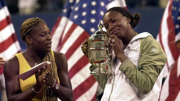 AFP TEN-US OPEN-WILLLIAMS SISTERS-TROPHY TENNIS USA NY