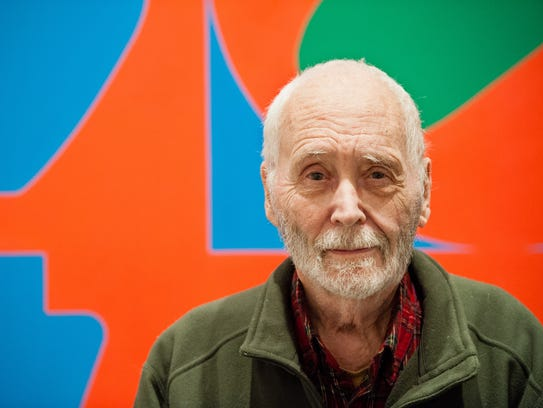 In this Sept. 24, 2013 photo, artist Robert Indiana,