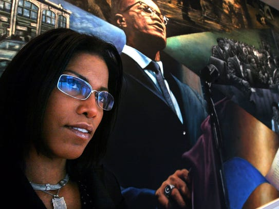 In this 2005 file photo, Ilyasah Shabazz stands by
