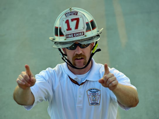 Fire instructor and New Franklin Fire Chief Ben Holmquist