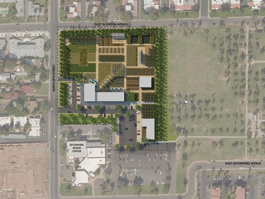 An overhead artist's rendering of The Farm at Los Olivos,