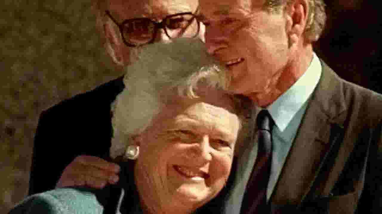 Barbara and George Bush\'s epic love story began at Christmas dance