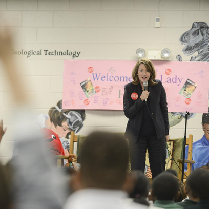 Crissy Haslam visited Isaac Lane Technology Magnet