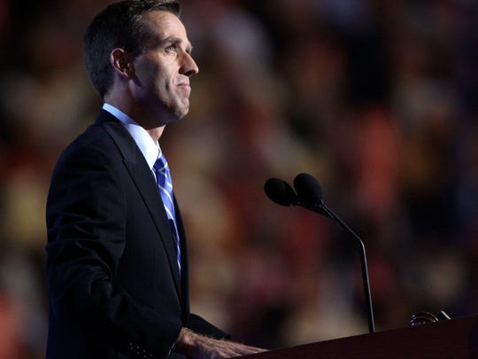 Delaware Attorney General Beau Biden, son of Democratic vice presidential candidate Sen. Joe Biden, D-Del., introduces his father at the Democratic National Convention in Denver on Aug. 27, 2008.