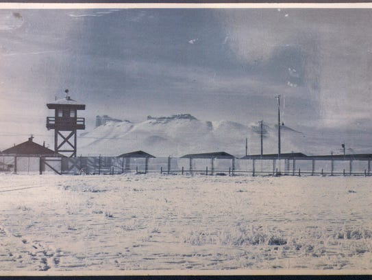 photo of Japanese Internment camp at Tule Lake taken