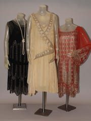 Flapper evening dresses from the 1920s.