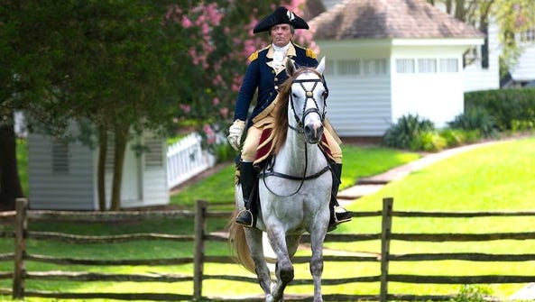 Ron Carnegie will portray George Washington in the