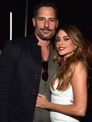 Actors Joe Manganiello and Sofia Vergara on April 21, 2015 in Las Vegas, Nev. The two are engaged to be married.