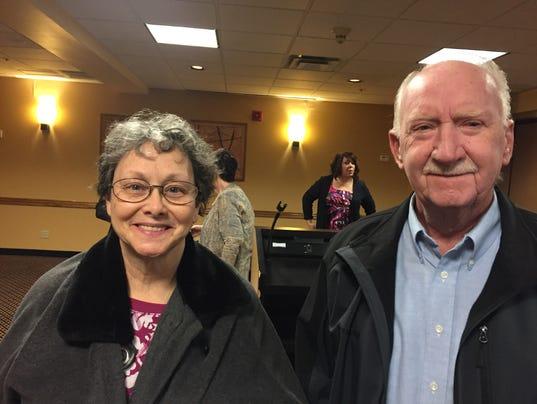 Ann Hardin and Nick Miller