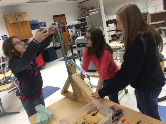 Barber Middle School : Mosinee Middle School eighth graders Maddy Barber, Kinsey Miller and ...