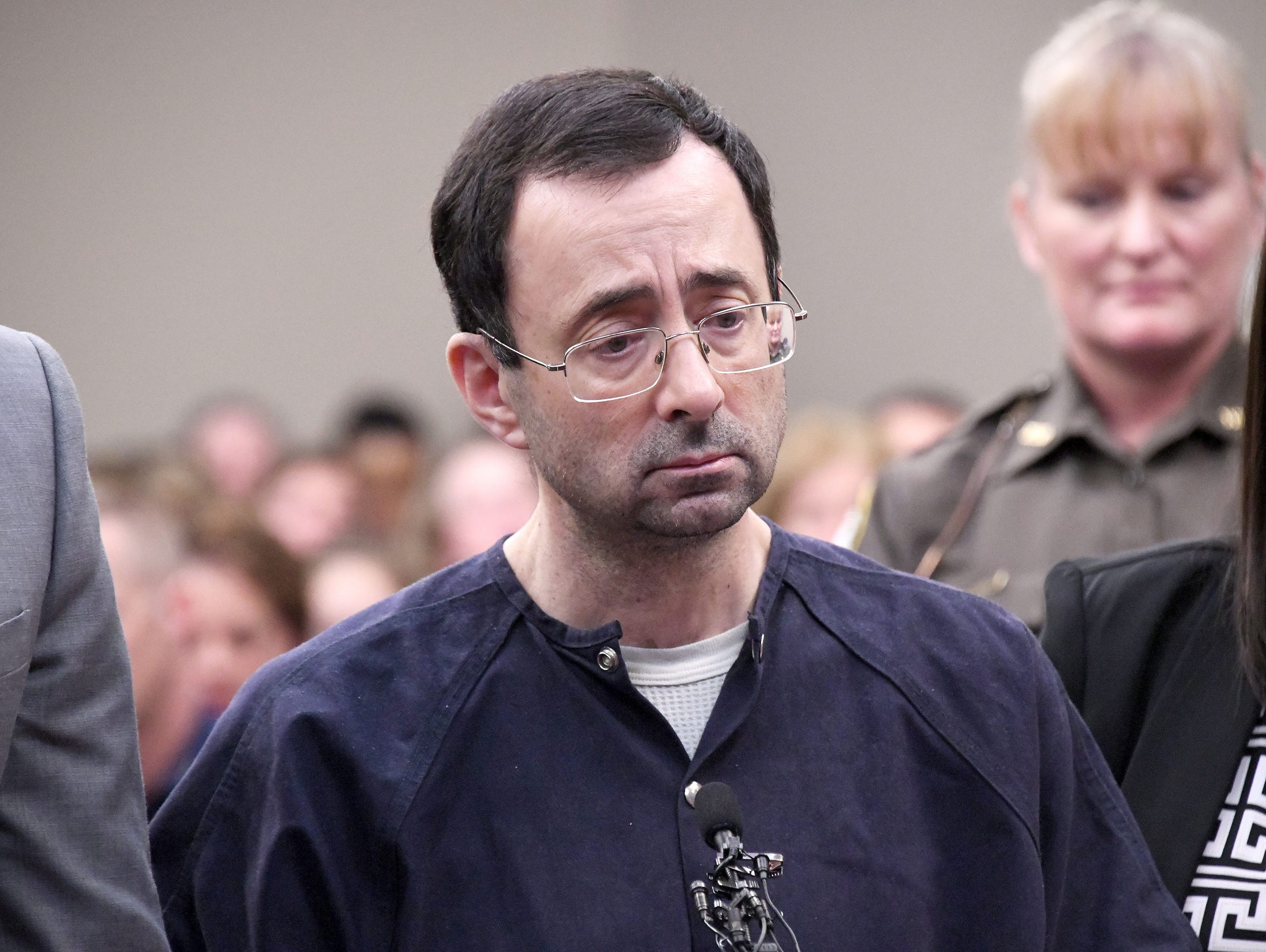 Larry Nassar is sentenced on Wednesday by Judge Rosemarie