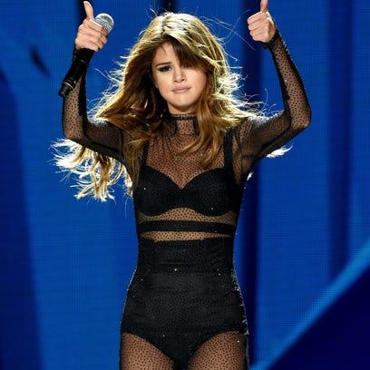Singer Selena Gomez performs at Staples Center in Los