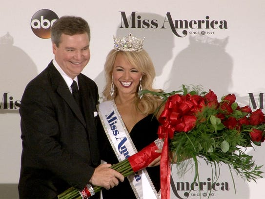 Miss America CEO Sam Haskell is shown with Miss America