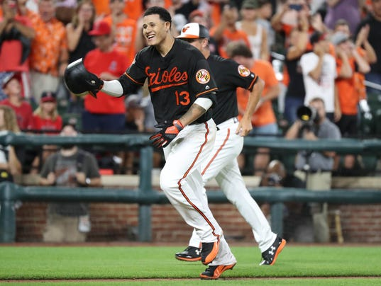 USP MLB: LOS ANGELES ANGELS AT BALTIMORE ORIOLES S BBA BAL LAA USA MD