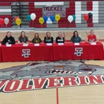 Seven athletes from Truckee signed letters of intent Thursday at the school.