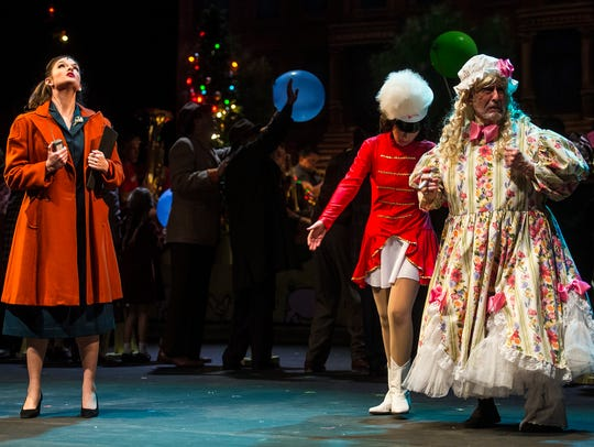"Naples Players rehearse ""Miracle on 34th Street"" at"