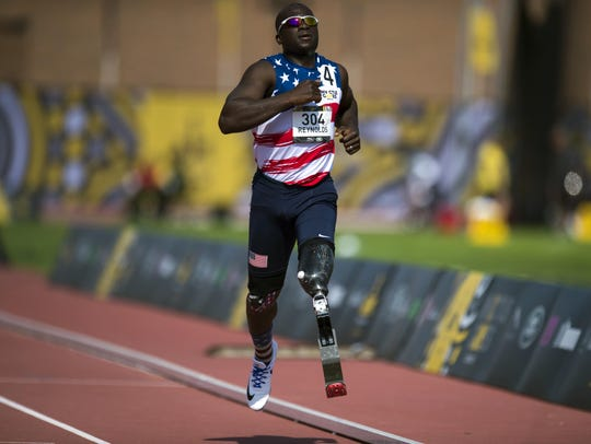 William B. Reynolds III competes at the 2017 Invictus Games.